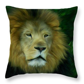 King Throw Pillow by Maria Urso
