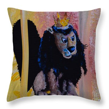 King Moonracer Throw Pillow by Alys Caviness-Gober