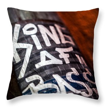 Throw Pillow featuring the photograph King Of Bass by Sennie Pierson