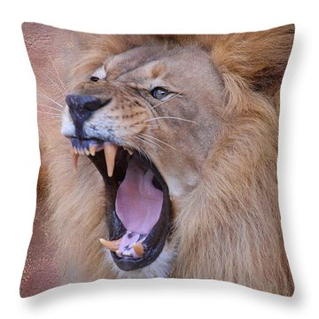 Throw Pillow featuring the photograph King Of Beasts by Dyle   Warren