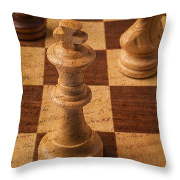 King Of Chess Throw Pillow by Garry Gay