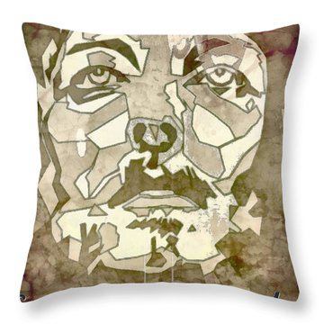King Of Glory Throw Pillow by Michelle Greene Wheeler