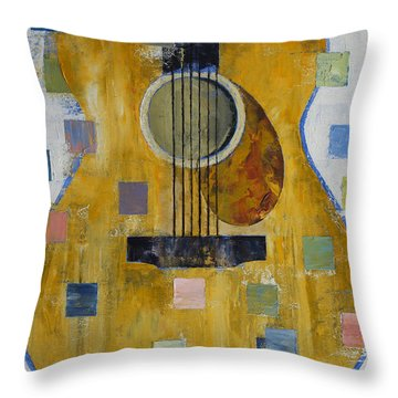 King Of Guitars Throw Pillow by Michael Creese