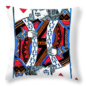 King Of Hearts 20140301 Throw Pillow