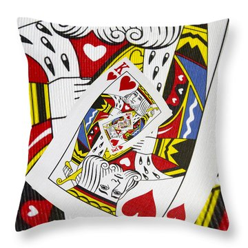 King Of Hearts Collage Throw Pillow