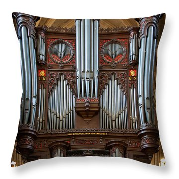 King Of Instruments Throw Pillow