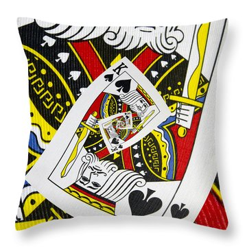 King Of Spades Collage Throw Pillow