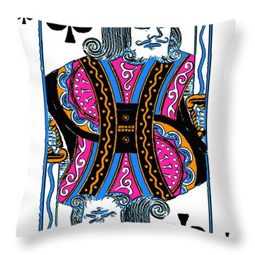King Of Spades - V3 Throw Pillow