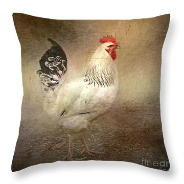 King Of The Coop Throw Pillow