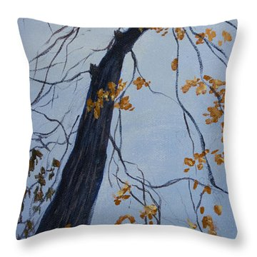 King Of The Forest Throw Pillow by Janet Felts