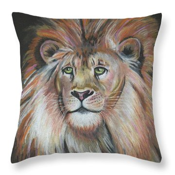 King Of The Jungle Throw Pillow by Lora Duguay