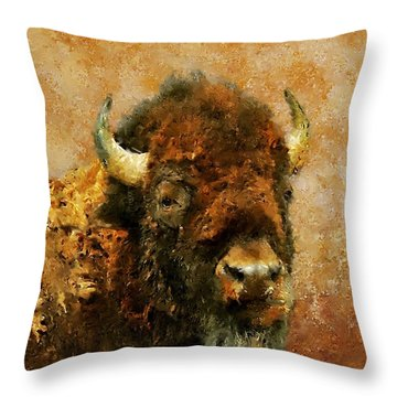 King Of The Plains Throw Pillow by Roger D Hale