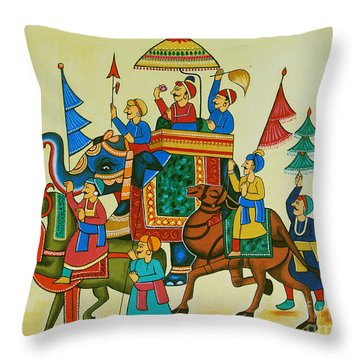 King Of The Procession Throw Pillow