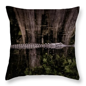 Throw Pillow featuring the photograph King Of The River by Steven Sparks