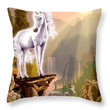 King Of The Valley Throw Pillow by Garry Walton
