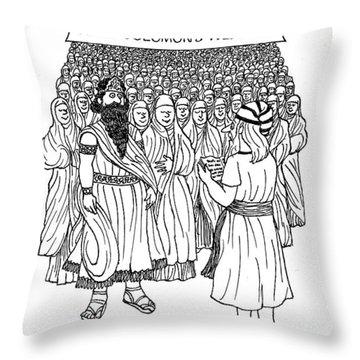 King Solomon's Wedding You May Kiss The Brides Throw Pillow