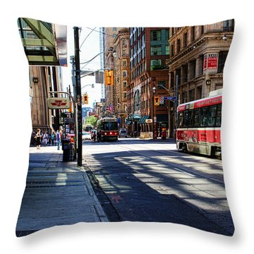King Street East Throw Pillow