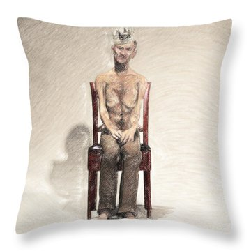 King Throw Pillow by Taylan Apukovska