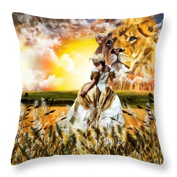 Kingdom Gold Throw Pillow
