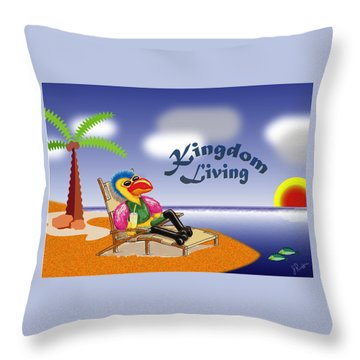 Kingdom Living Throw Pillow by Jerry Ruffin