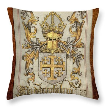 Kingdom Of Jerusalem Medieval Coat Of Arms  Throw Pillow