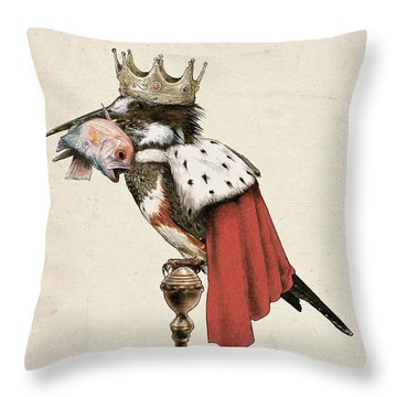 Kingfisher Throw Pillow by Eric Fan