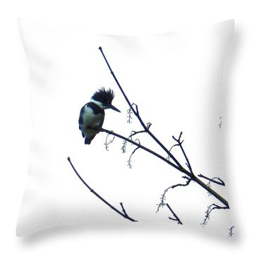 Kingfisher Throw Pillow by Karen Molenaar Terrell