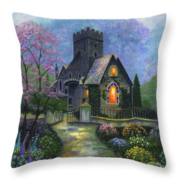 King's Garden Throw Pillow by Bonnie Cook