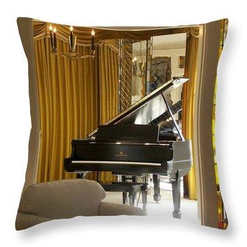 Kings Piano Throw Pillow