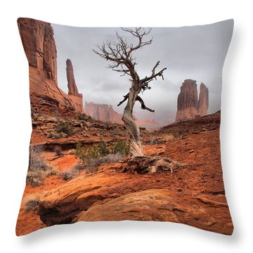 King's Tree Throw Pillow