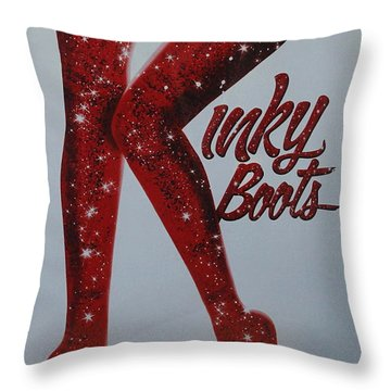 Kinky Boots Throw Pillow