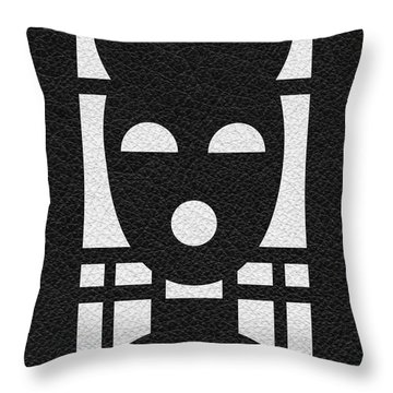 Kinky Time Mask Throw Pillow by Roseanne Jones