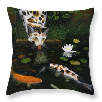 Throw Pillow featuring the painting Kinship by Karen Zuk Rosenblatt