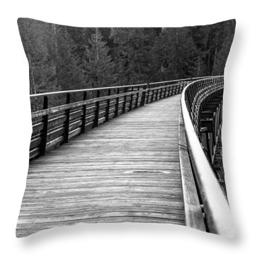 Kinsol Trestle Boardwalk  Throw Pillow