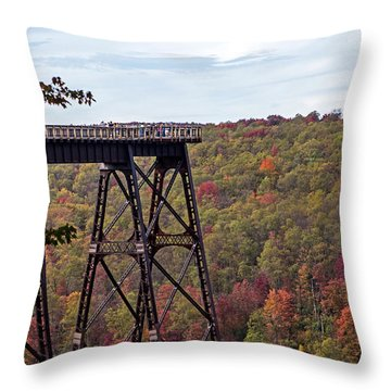 Kinzua Bridge Throw Pillow