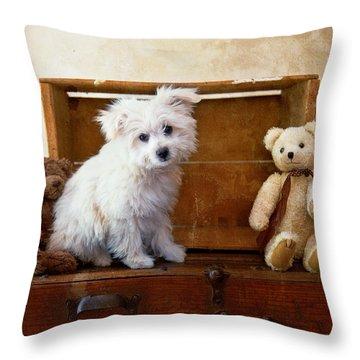 Kip And Friends Throw Pillow