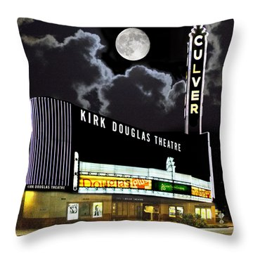 Kirk Douglas Theatre Throw Pillow