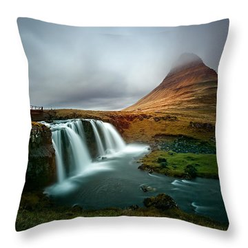 Kirkjufell Throw Pillow by Ian Good
