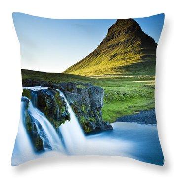Kirkjufell Mountain Throw Pillow