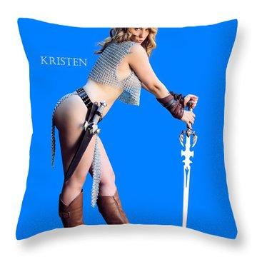 Kirsten Vgirl Pinup Throw Pillow