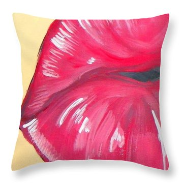 Throw Pillow featuring the painting Kiss  by Marisela Mungia