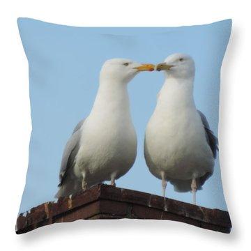 Kiss Me You Fool Throw Pillow