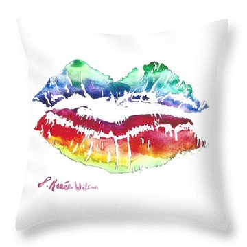 Kiss Of Color Throw Pillow