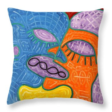 Kiss Throw Pillow by Patrick J Murphy