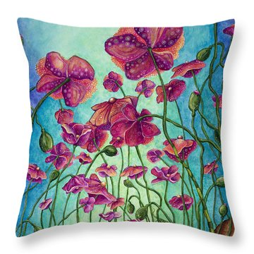Kissed By The Sun Throw Pillow by Tanielle Childers