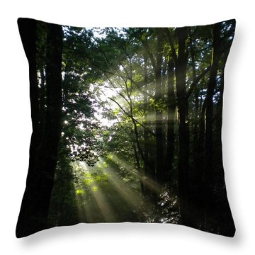 Kisses From Heaven Throw Pillow by Diannah Lynch