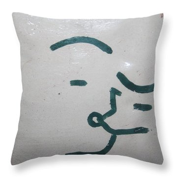 Kisses - Tile Throw Pillow by Gloria Ssali
