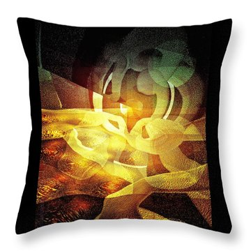 Kisses Under The Pistachio Moon Throw Pillow by Mimulux patricia no No