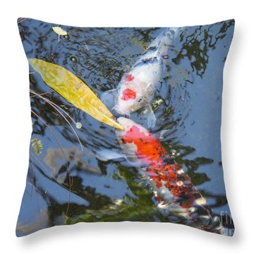 Kissin' Koi Throw Pillow