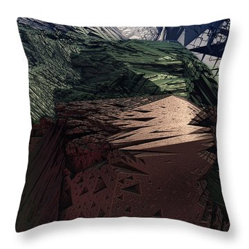 Kissing Carrion Throw Pillow
